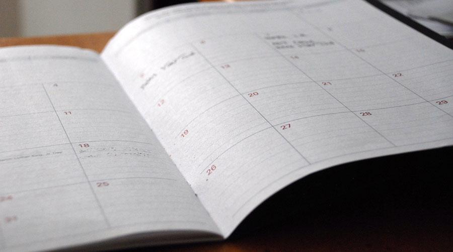 actividades descripcion calendario