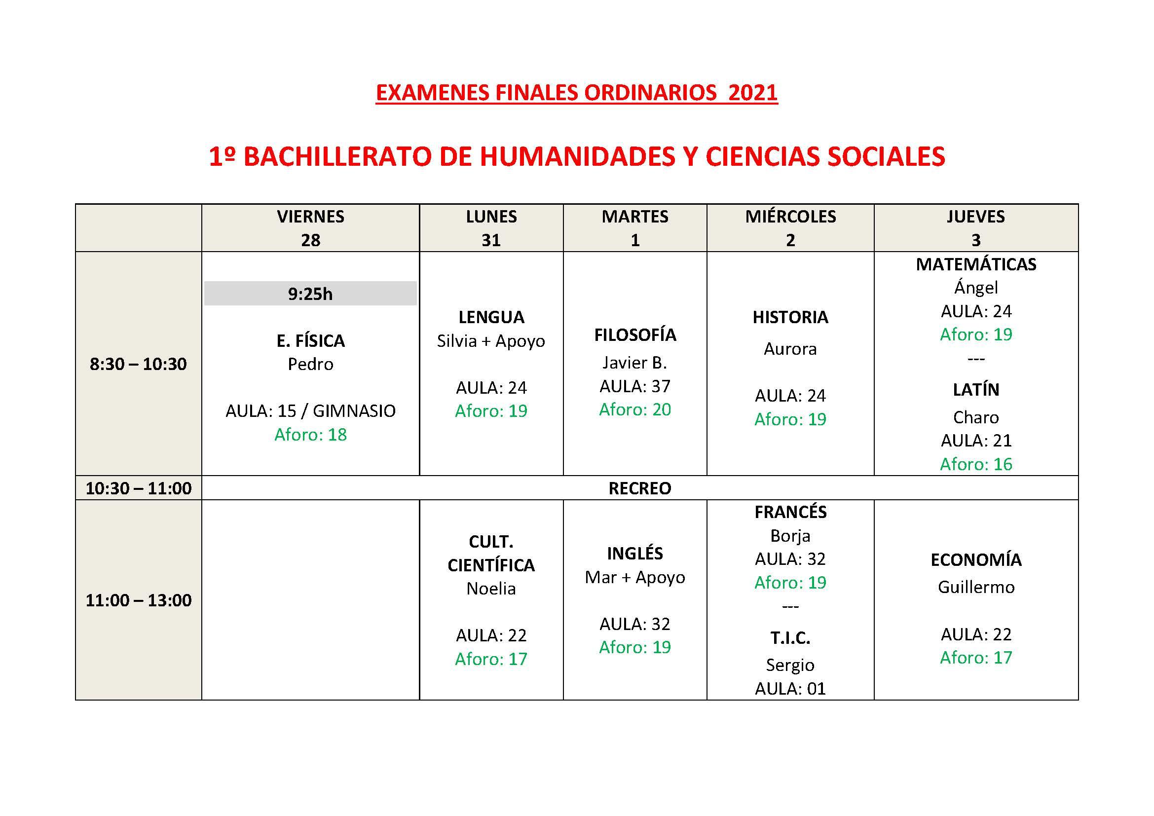 CALENDARIO DE EXAMENES ORDINARIOS ESO Y 1 BTO Pagina 8