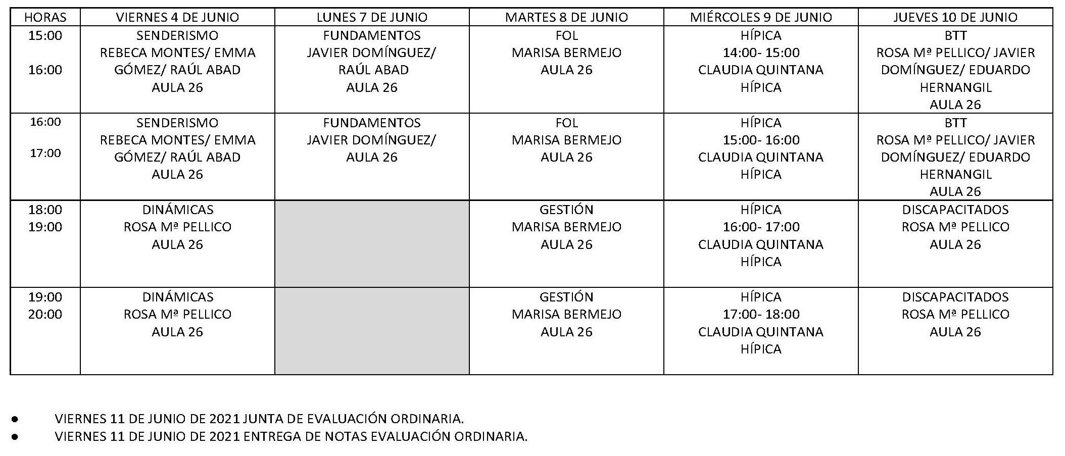 Calendario Examenes FP C. Ordinaria 20 21 Pagina 1