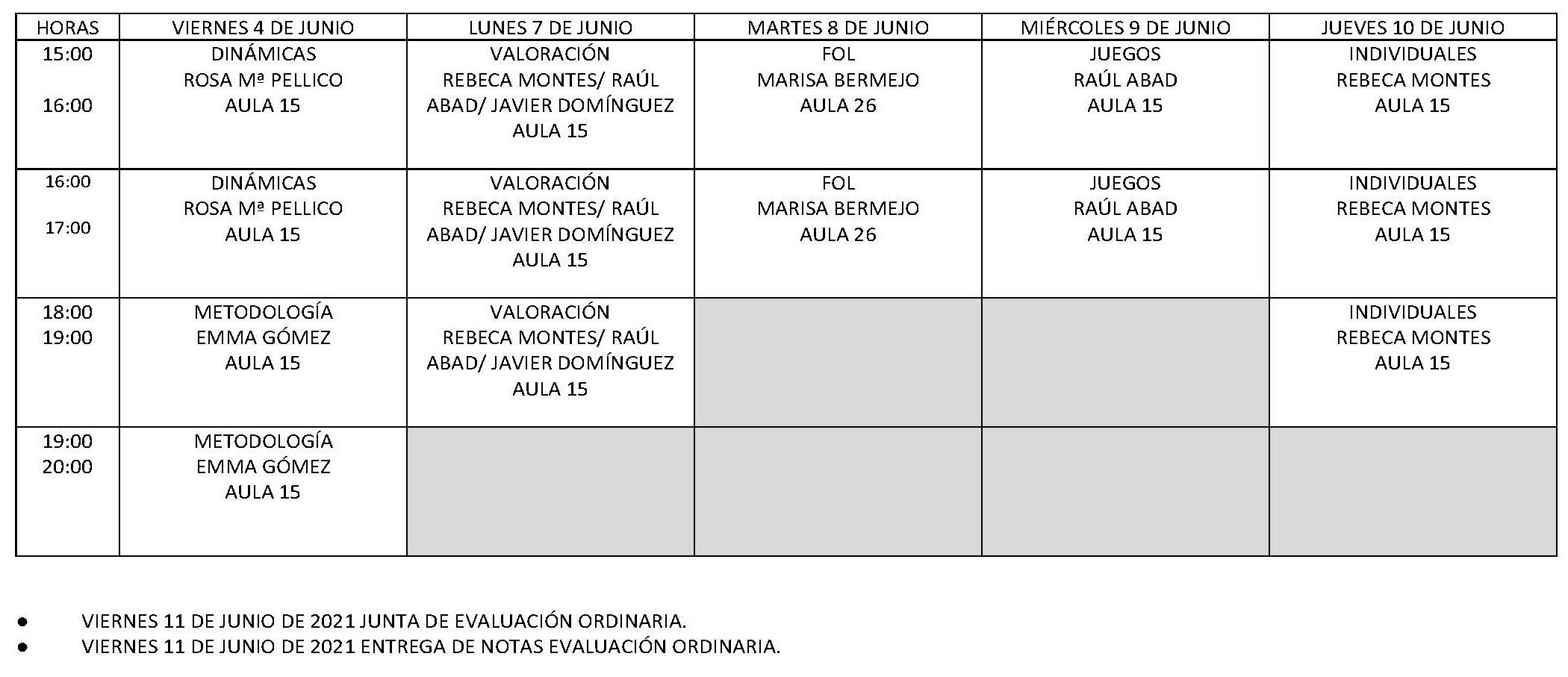 Calendario Examenes FP C. Ordinaria 20 21 Pagina 2